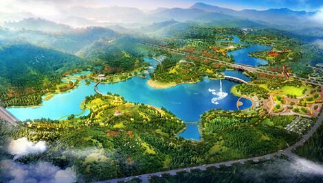 乐山市井研县大佛乡森林湿地公园康养项目