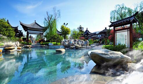 果香四季度假区内酒店、餐饮、温泉、水上乐园