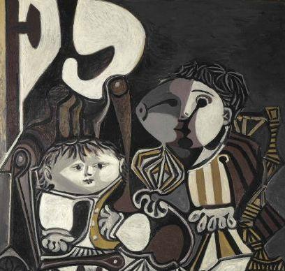 毕加索《两个小孩》高清图片